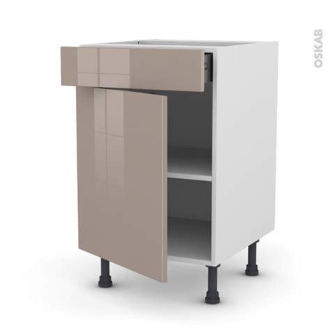cuisine moka meuble de cuisine bas keria moka 1 porte 1 tiroir l50 x