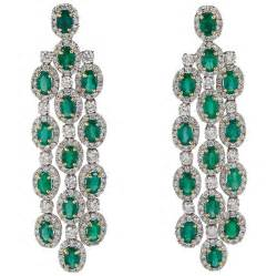 Emerald Chandelier Earrings Emerald Gold Chandelier Earrings For Sale At 1stdibs