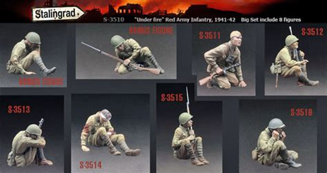 Resin Figures 135 Army Rifleman 1941 42 stalingrad russian inf