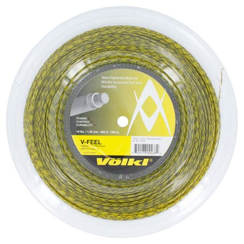 Spiral String - tennis express volkl v feel yellow black spiral 16g reel