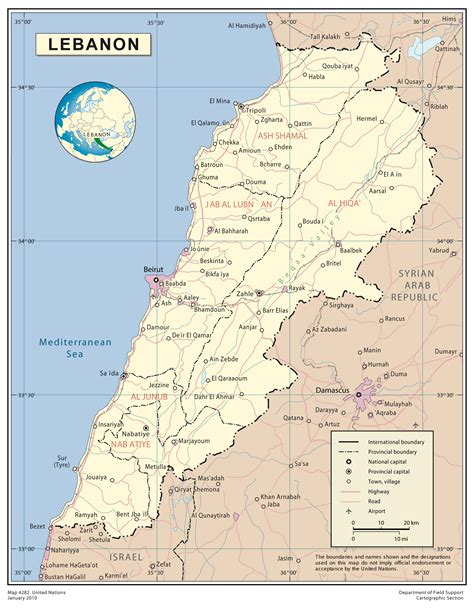lebanon on the world map maps of lebanon map library maps of the world
