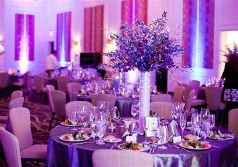 Purple And Blue Wedding Decorations   my favorite wedding