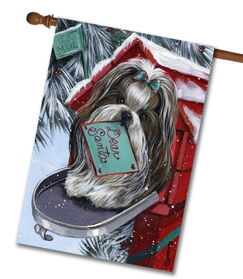 shih tzu house shih tzu a list for santa pet flags flagology