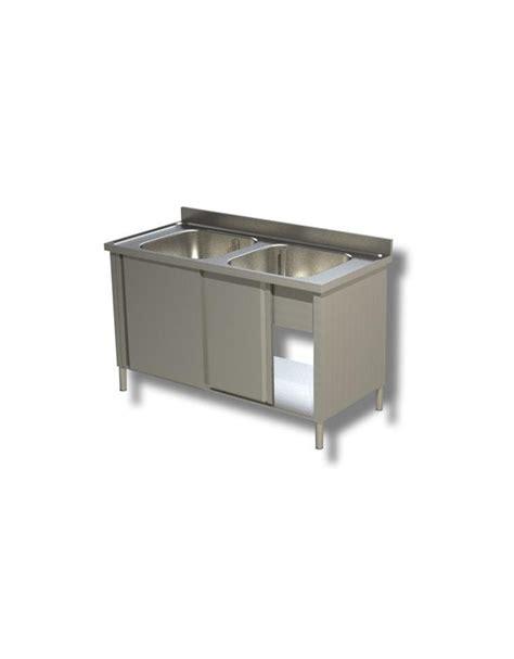 lavello inox 2 vasche lavello inox armadiato 2 vasche dimensioni cm 140x70x85h
