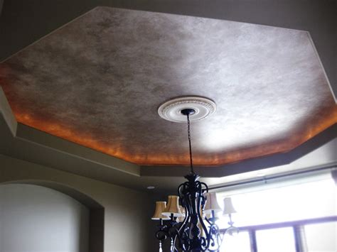 marbled metallic faux ceiling edmonton by luxe painting