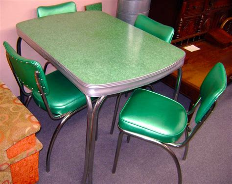 antique and vintage table and chairs formica table with