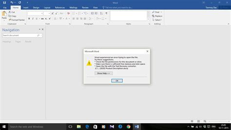 fix quot word experienced an error trying to open the file quot in ms office