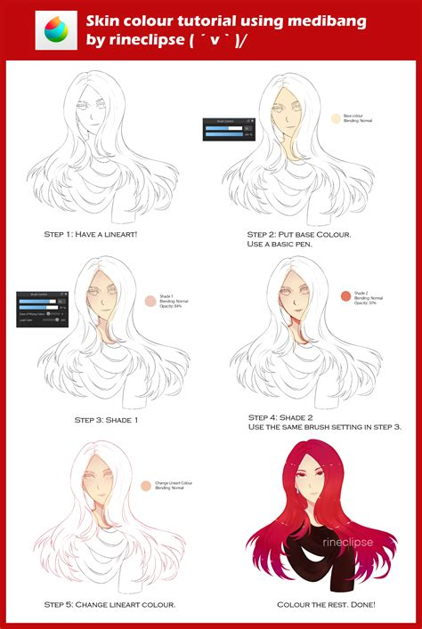 firealpaca lineart tutorial skin colour tutorial using medibang by rineclipses on
