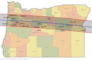 map of oregon totality see the eclipse on route 26 city of day