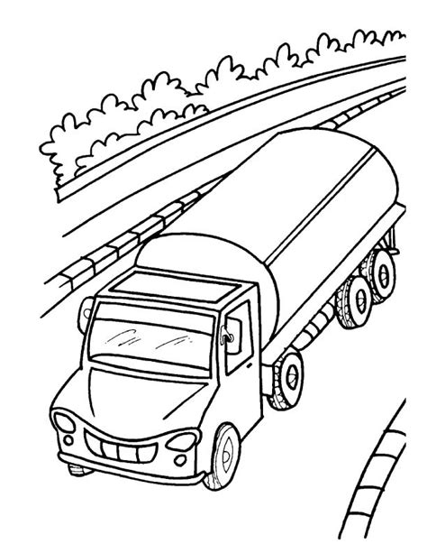 Oil Truck Coloring Page | oil tanker truck coloring page download free oil tanker