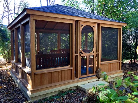wand pavillon 3x4 this gazebo features a low knee wall and large screened