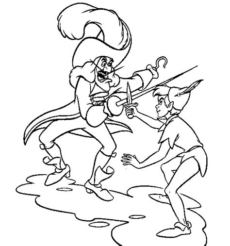 Captain Hook Coloring Pages Barriee Captain Hook Coloring Pages