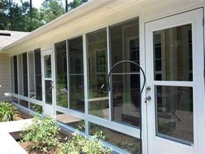 Windows For Patio Enclosures by Screen Rooms Tallahassee