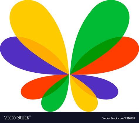 colorful butterfly logo colorful butterfly logo royalty free vector image