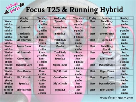 printable t25 schedule 25 best ideas about t25 schedule on pinterest focus t
