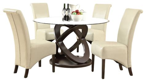 contemporary round dining room sets monarch specialties 1749 177 5 piece round dining room set