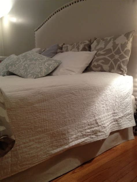 diy bed skirt two it yourself no sew drop cloth bed skirt perhaps the