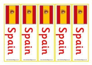 printable bookmarks in spanish spain flag printables