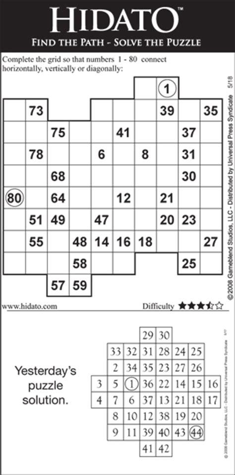 printable hidato puzzle hidato