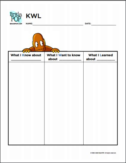 printable kwl chart moby kwl chart brainpop educators