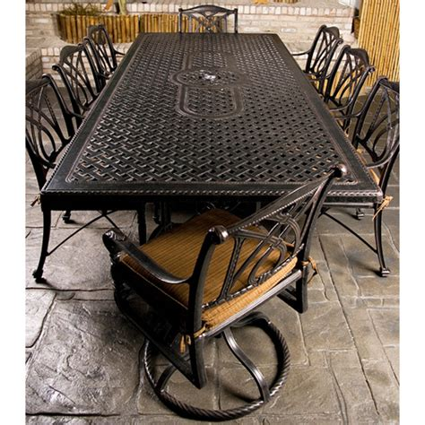 Grand Terrace Patio Furniture by Grand Terrace Dining Patio Set By Gensun Free Shipping