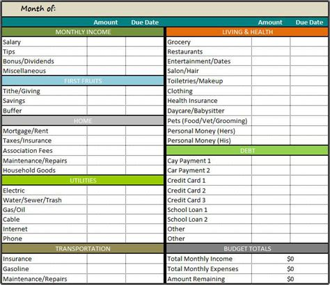 spreadsheet template for budget restaurant budget spreadsheet excel template on behance