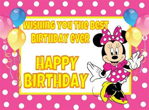 In Happy Birthday Quotes Minnie Mouse Happy Birthday Quote Pictures Photos And