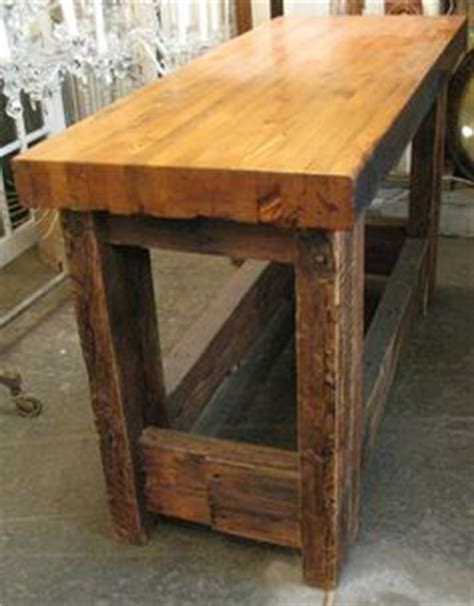 reclaimed old world solid wood kitchen island work counter 1000 images about butcher block table on pinterest