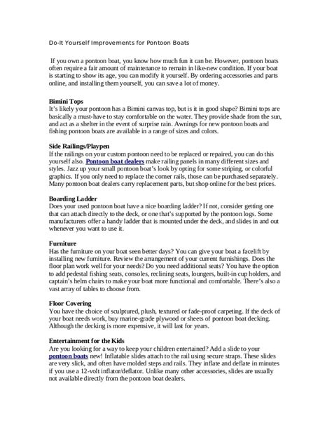 sweetwater vs bennington pontoon boats do it yourself improvements for pontoon boats