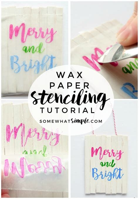 tutorial for vinyl lettering wax paper stencil tutorial for crafts and projects