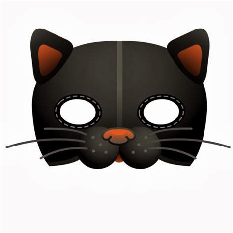 printable mask of cat early play templates 5 printable halloween cat masks to make