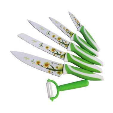 Knife Set 6 Pcs Pisau Set Stainless Pisau Uk Besar Stai Berkualitas jual pisau dapur terbaru harga promo diskon