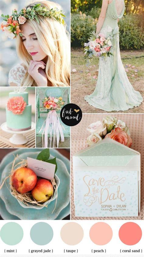 mint peach and hint coral wedding wedding wedding