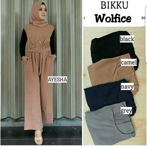 Grosir Jumpsuit Overall Muslim Wearpack baju muslim terbaru bikku jumpsuit grosir baju muslim pakaian wanita dan busana murah