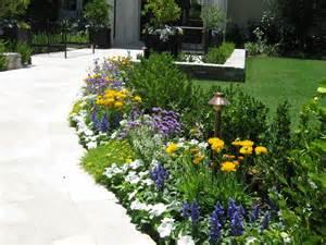 Simple Flower Garden Ideas Parry Design Flower Beds And Pots