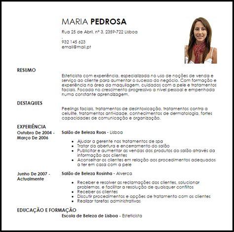 Modelo Curriculum Vitae Fisioterapia Exemplo Curriculum Vitae Esteticista Livecareer