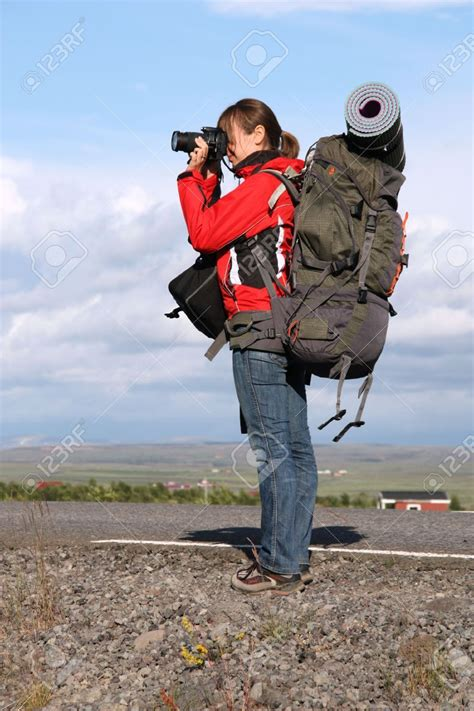 stock photo travel photographer backpacking photography