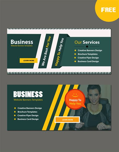templates business banner business website modern banners template