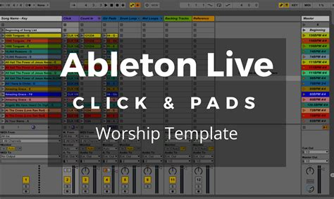 Ableton Live Template For Worship Worship Ministry Training For Worship Leaders Ableton Live Templates