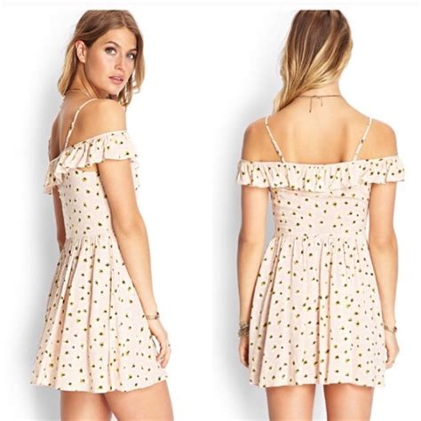 Yellow Dress By F21 forever 21 light pink with white yellow daisies dress