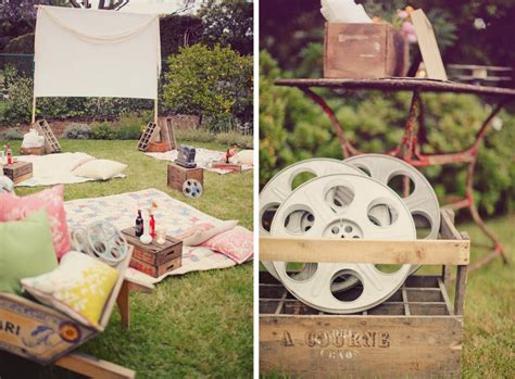 diy backyard party ideas entertaining hollywood style a backyard movie screening