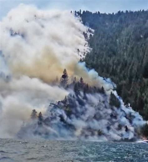 gov otter tours cape horn fire in north idaho evacuees - Cape Horn Boat Tours