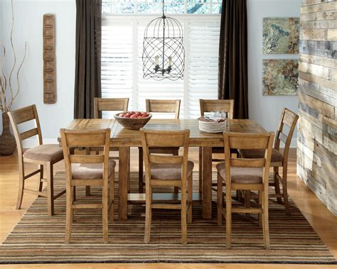 dining room set square counter height efurniture mart krinden rectangular counter height extendable dining room