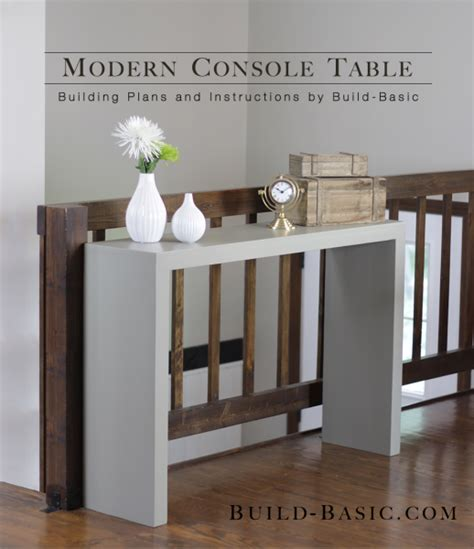 build a console table build a modern console table diy home tables