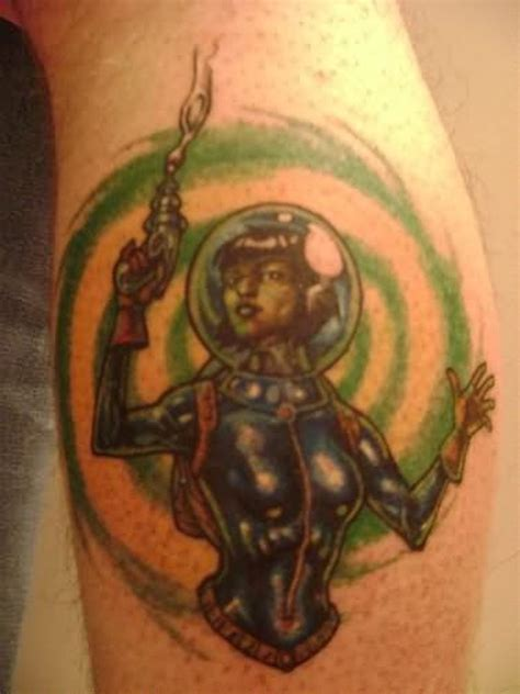 tattoo girl with gun alien girl with gun tattoo tattoos book 65 000 tattoos
