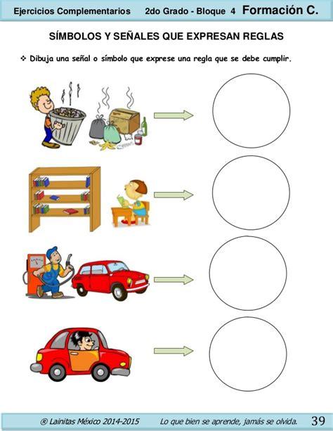 imagenes de simbolos que indiquen reglas 2do grado bloque 4 ejercicios complementarios