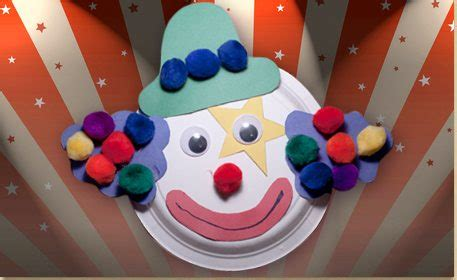 clown paper plate craft paper plate clown craft project ideas