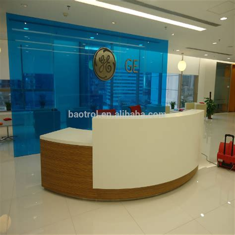 how to build a reception desk creative modern curved office furniture build a half