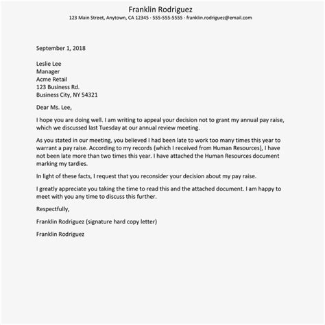 sample letter  reconsideration  application