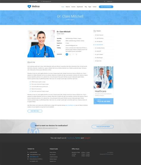 Medicus Multipurpose Medical Psd Template By Noothemepsd Themeforest Doctor Office Website Template